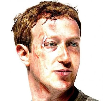 Zuckerberg with face scars
