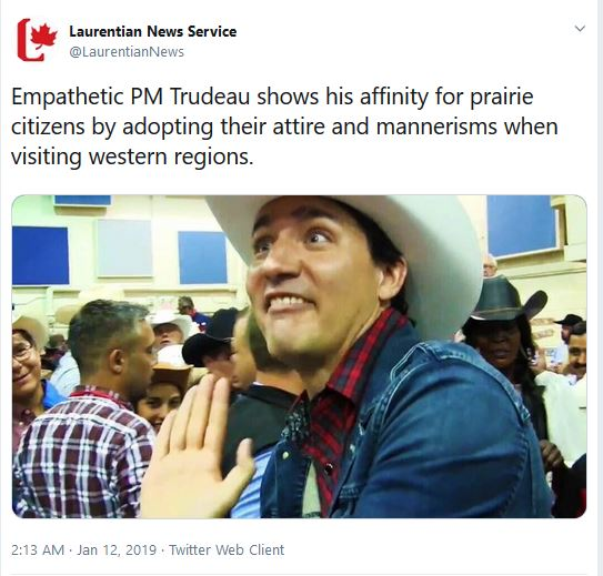 trudeau cowboy