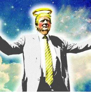 trump with halo
