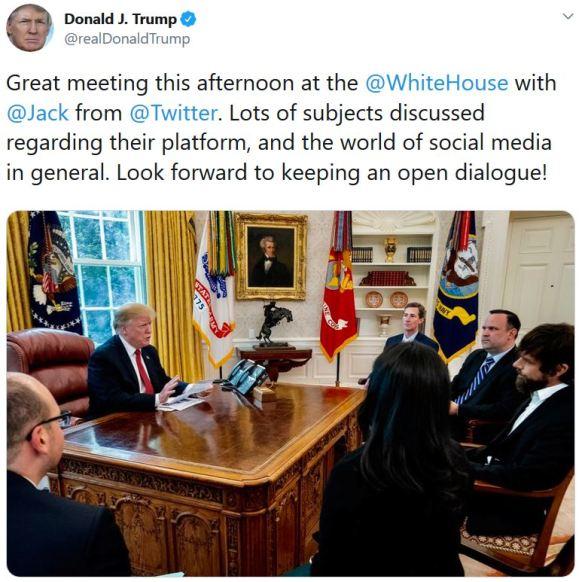 trump meets jack twitter