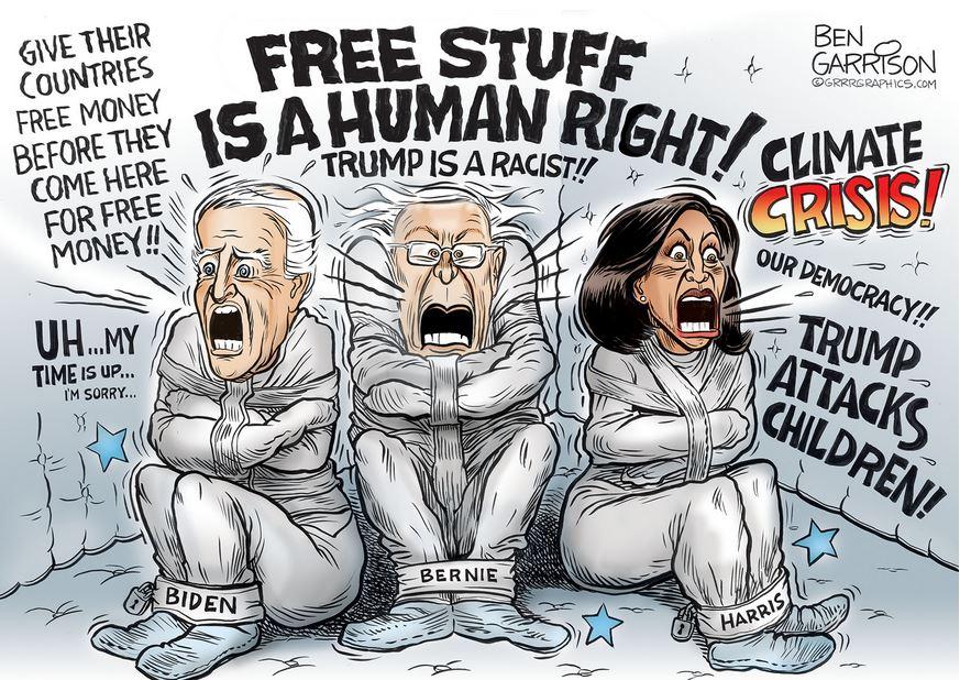 democrats garrison harris biden bernie
