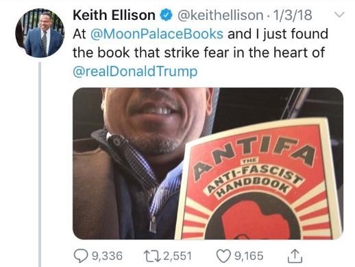 keith elison antifa
