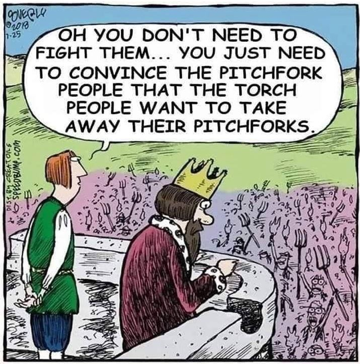 pitch fork torches