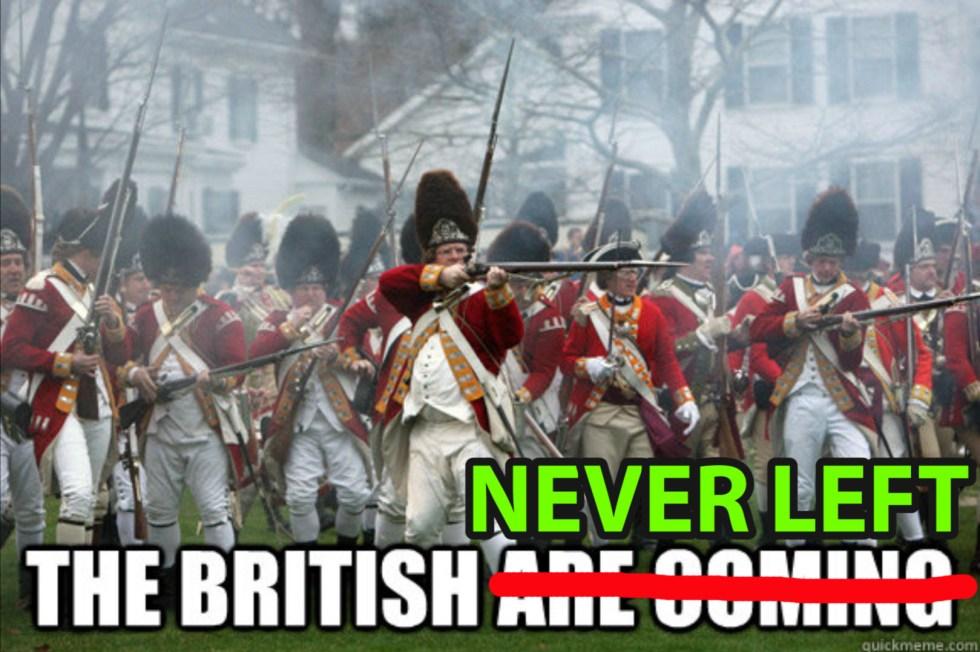 british never left