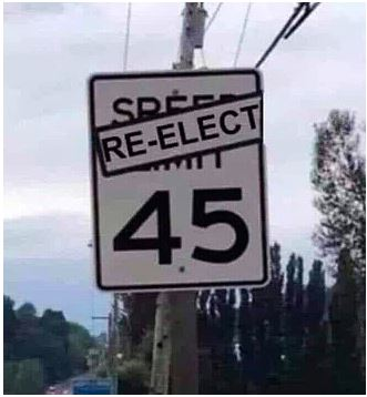 re-elect 45 trump
