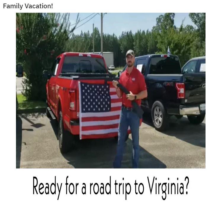virginia road trip gun