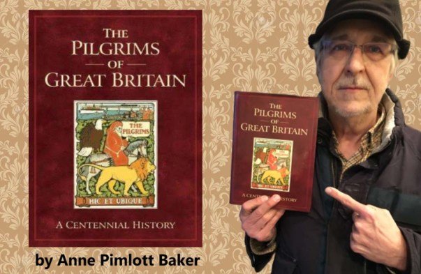 douglas holds pilgrims book