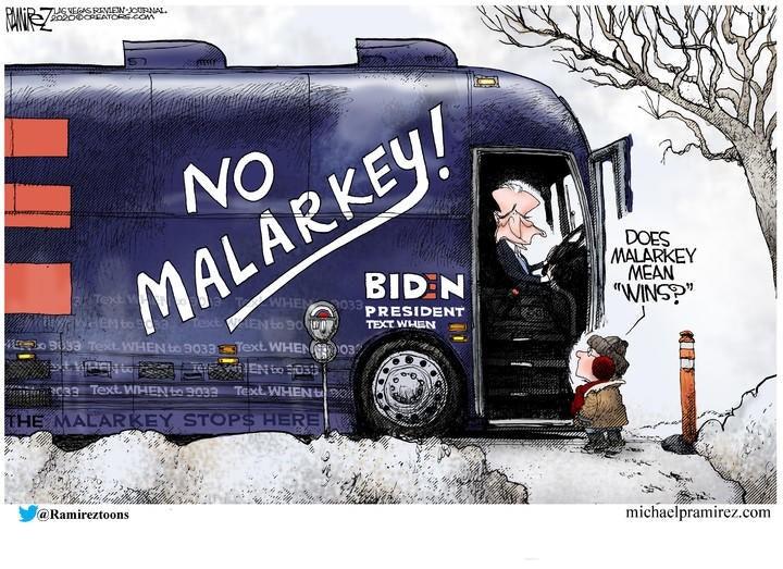 biden malarkey bus