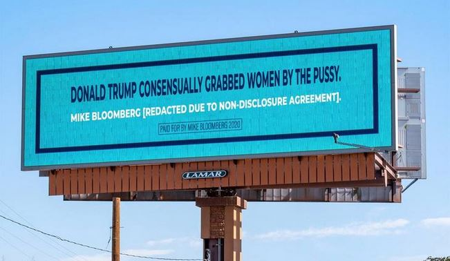 bloomberg ad trump billboard
