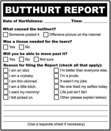 butthurt report
