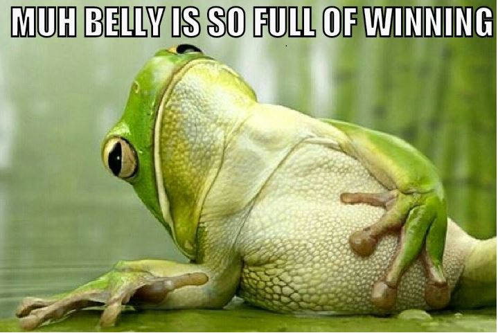 frog belly winning
