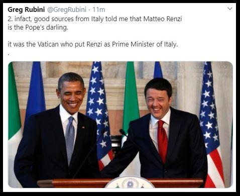 renzi pope