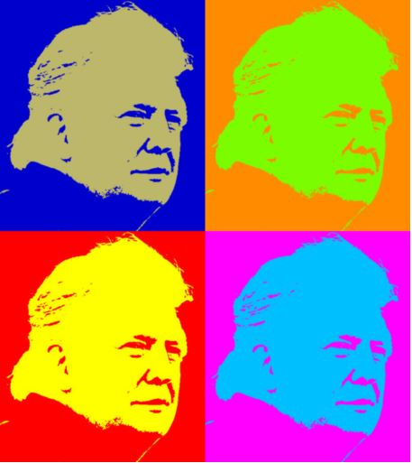 trump hair colorized