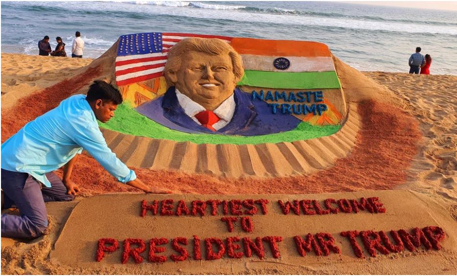 trump sand castle india