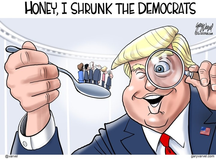 trump shrunk democrats