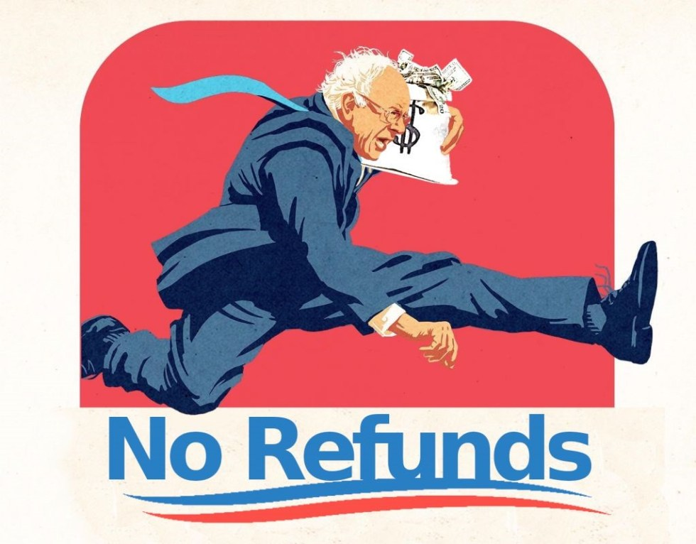 bernie sanders no refunds