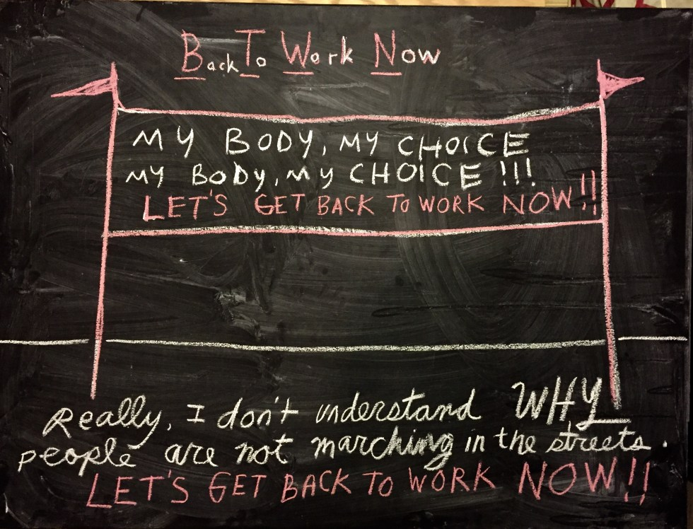 chalk back to work