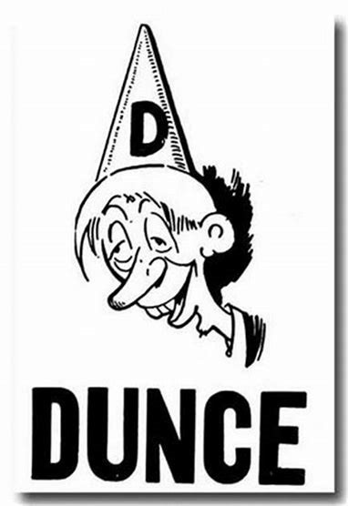 dunce b&w