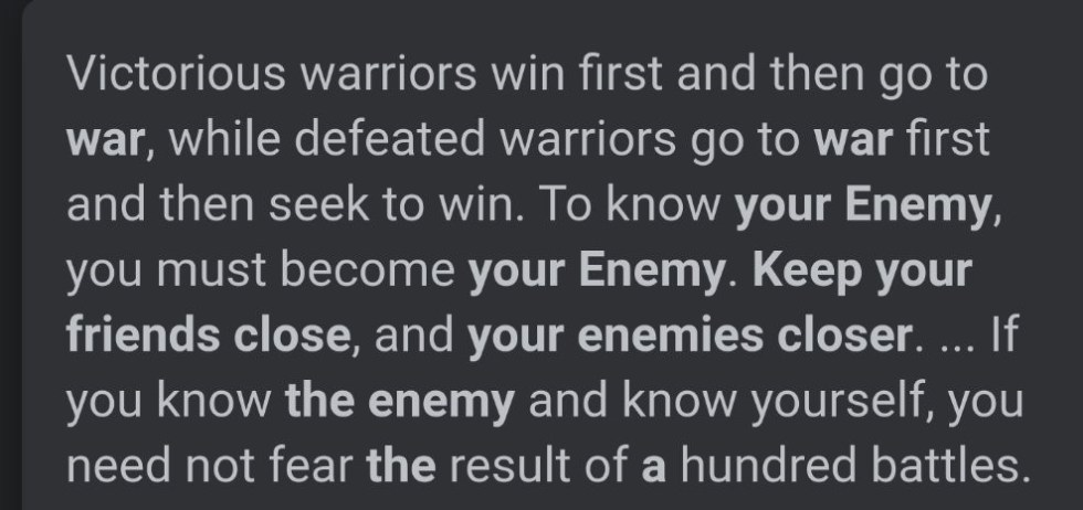 know enemy