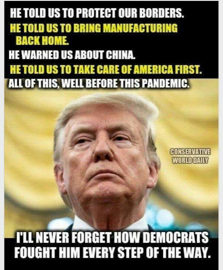 trump told us