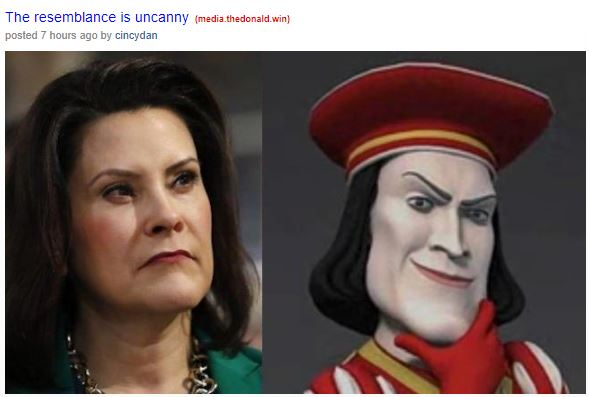 gretchen whitmer clown