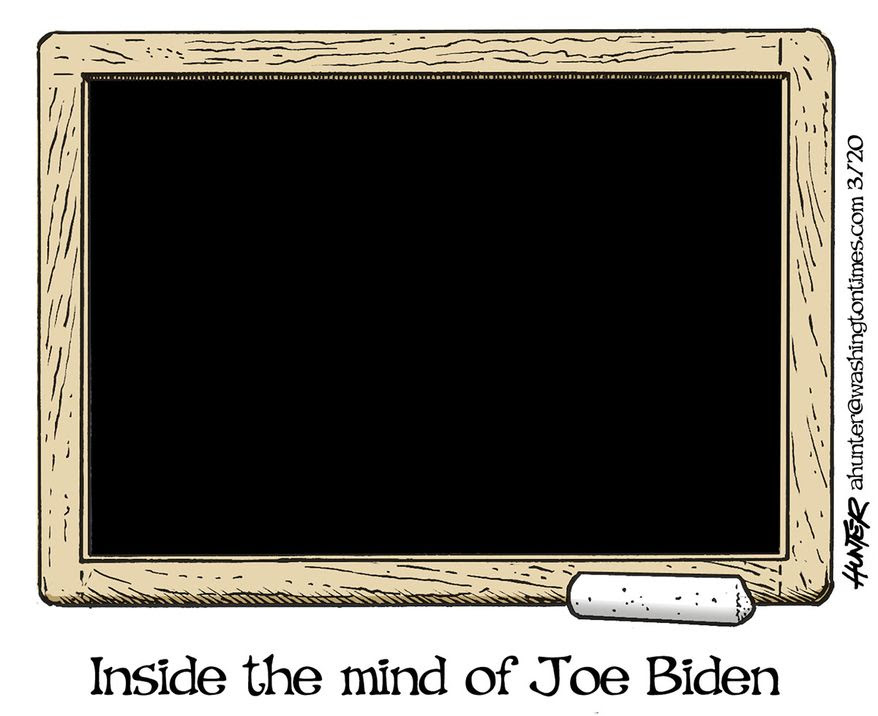 inside mind of joe biden chalkboard