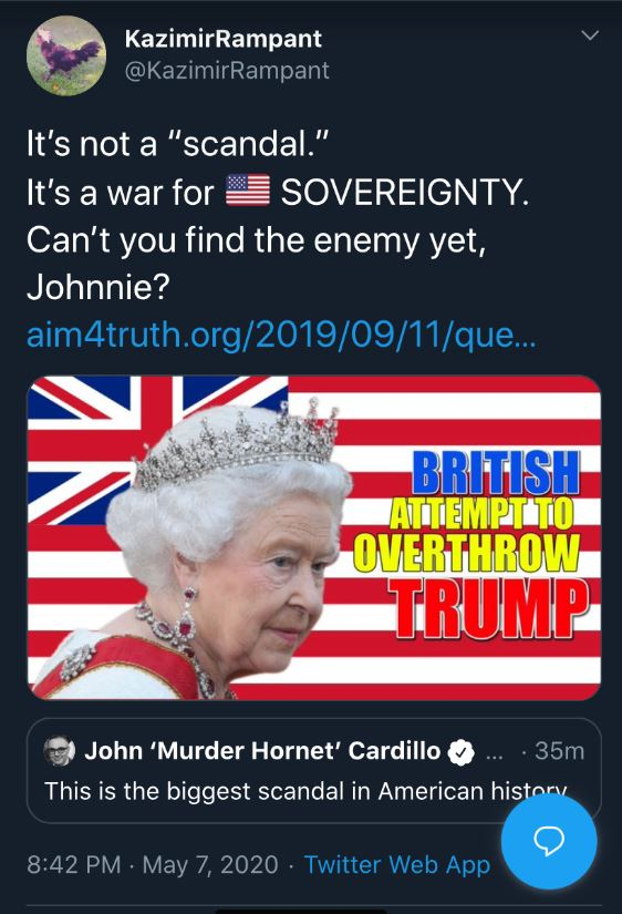 british overthrow tweet
