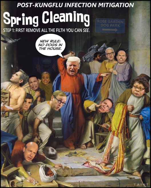 cleaning house trump