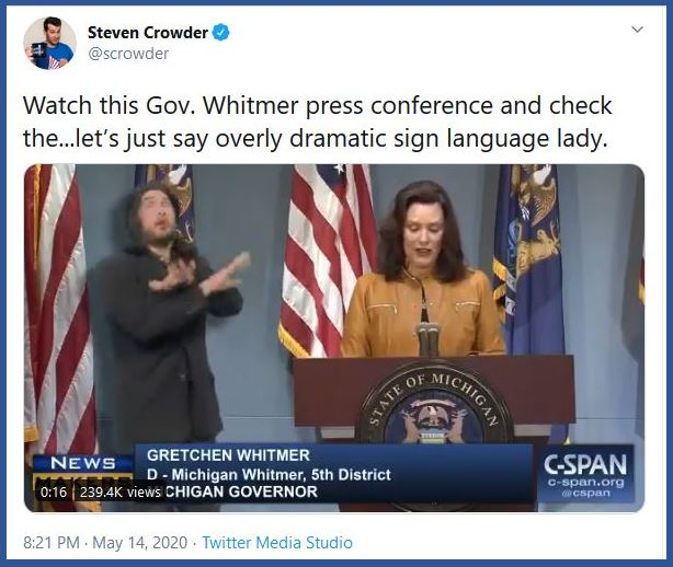whitmer sign language