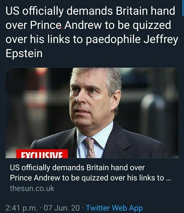 Prince andrew epstein