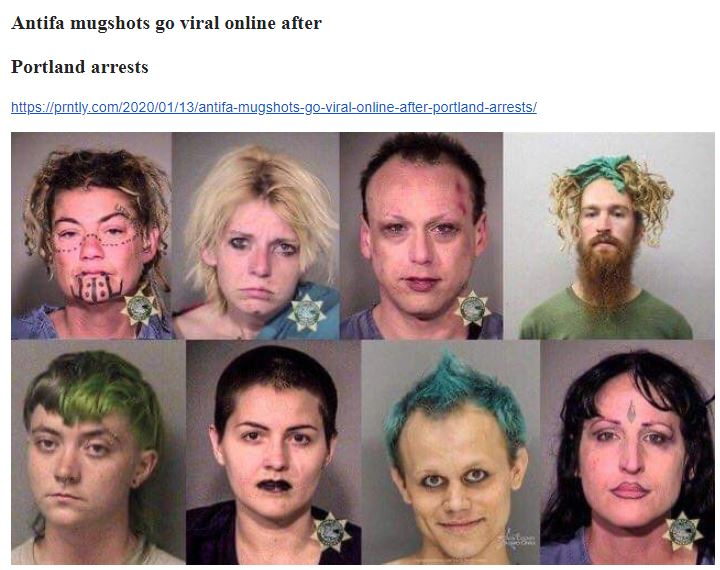 antifa mugshots