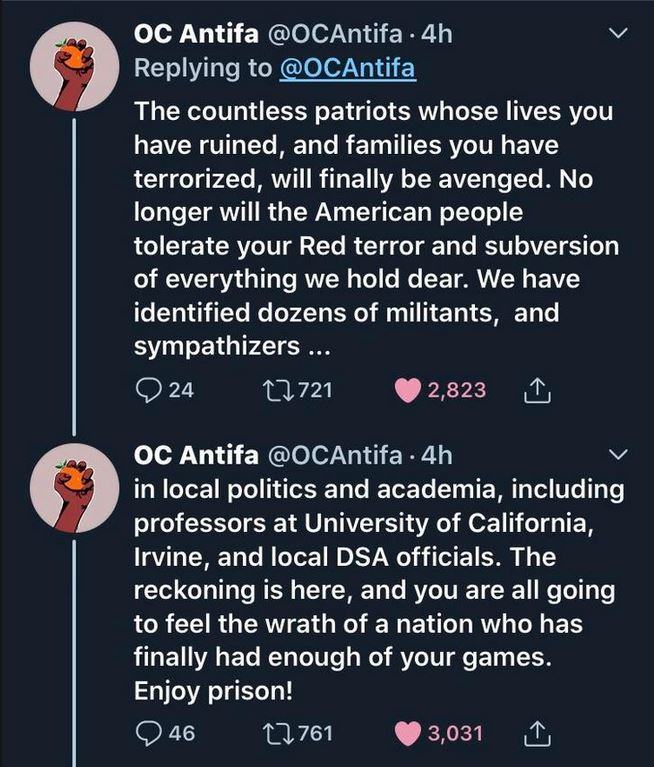antifa tweet