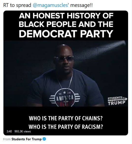 black man message to democrats