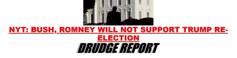 bush romney drudge
