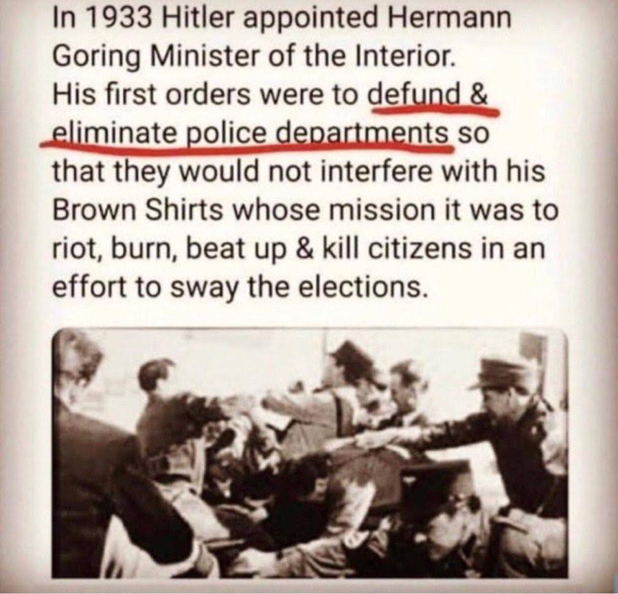 defund police history