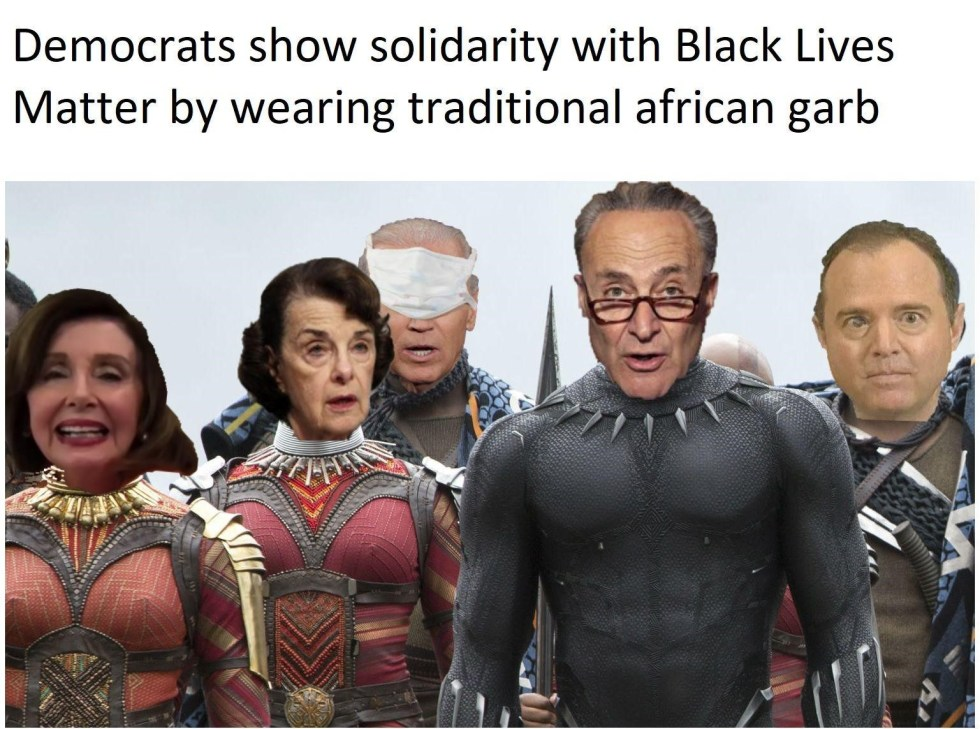 democrats as africans blm