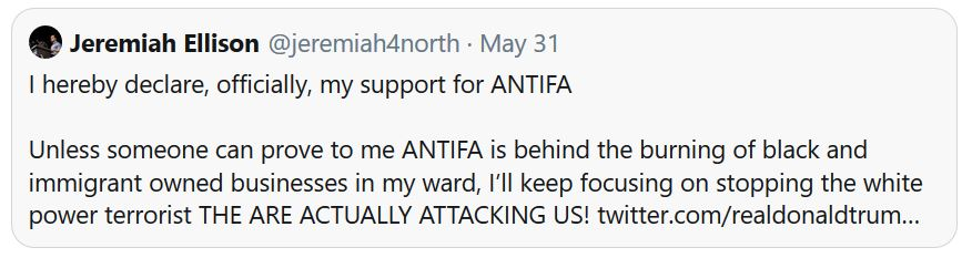 ellison son antifa