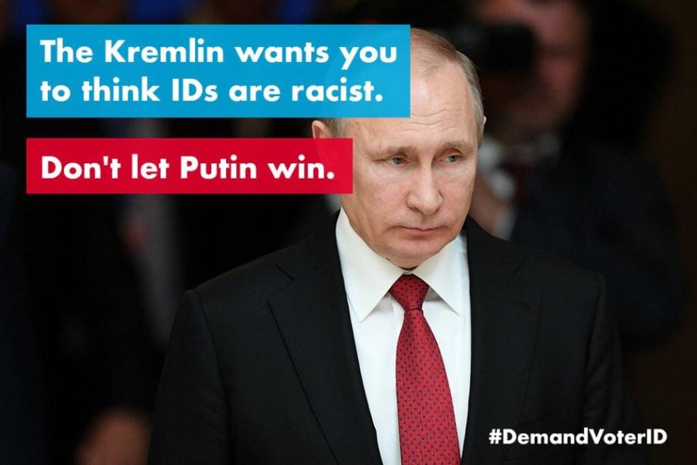 putin voter id racist