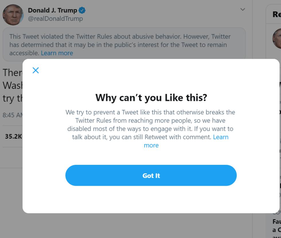 twitter censorship trump