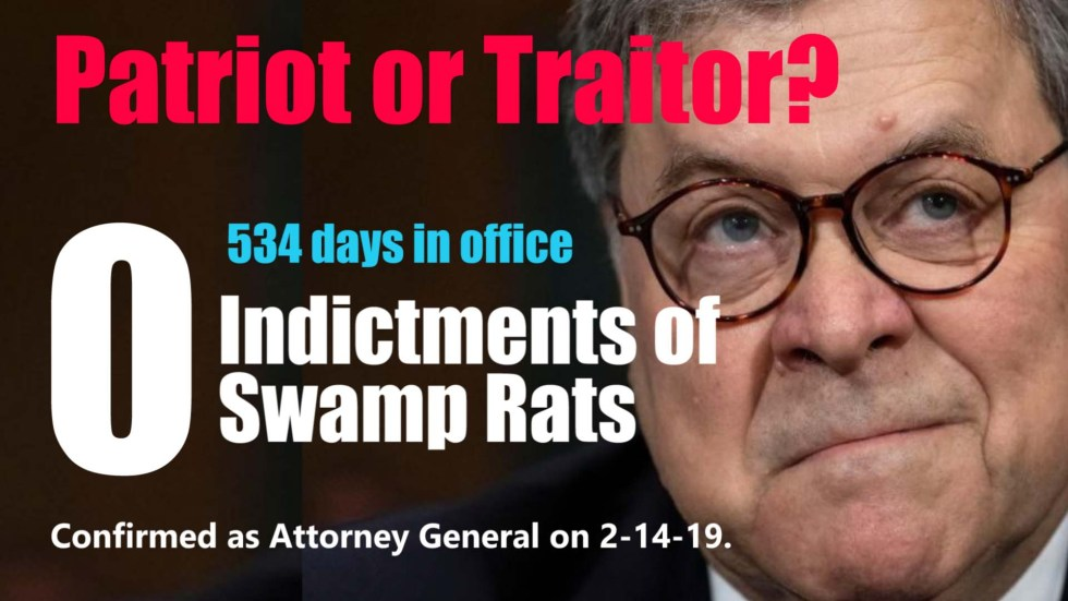 Bill Barr 534 days no indictments