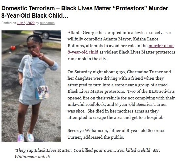 blm kill young girl