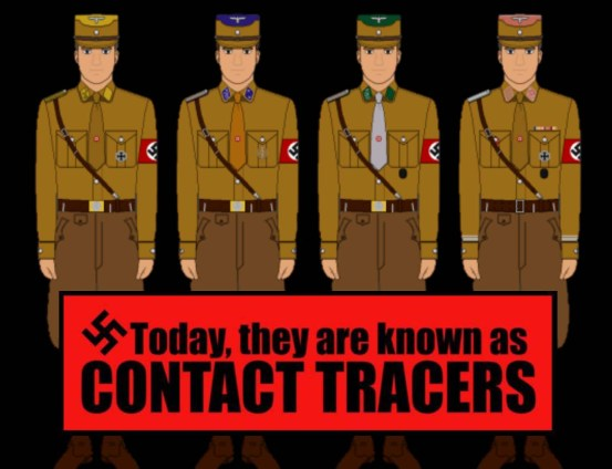 brown shirt contact tracer