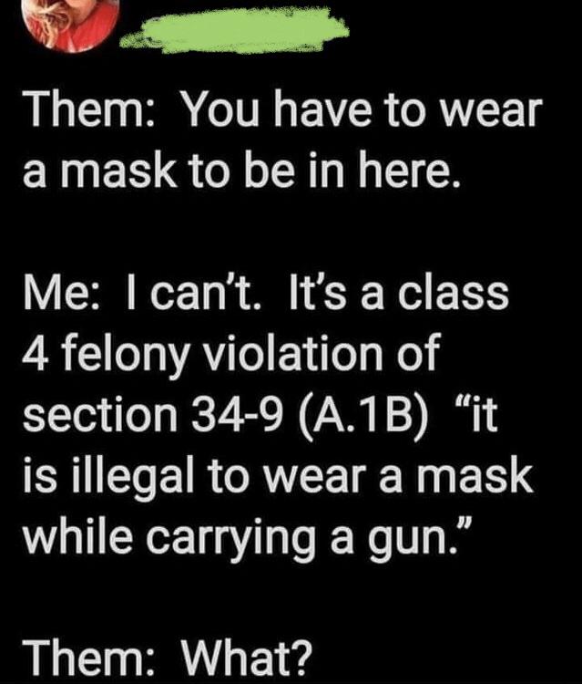gun mask