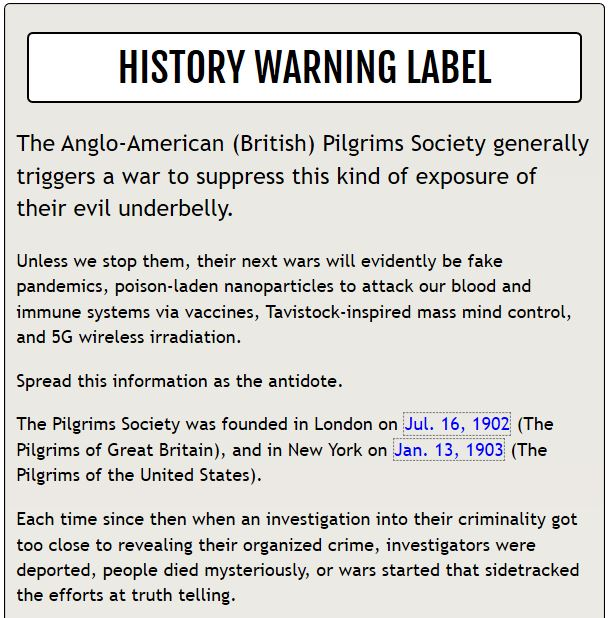 histroy Warning label 1