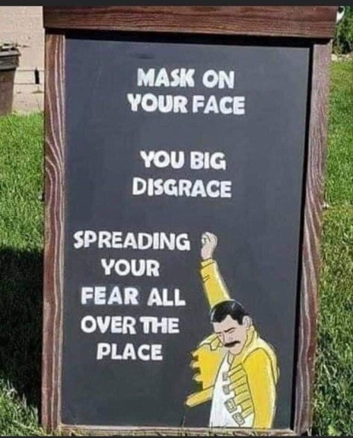 mask on face