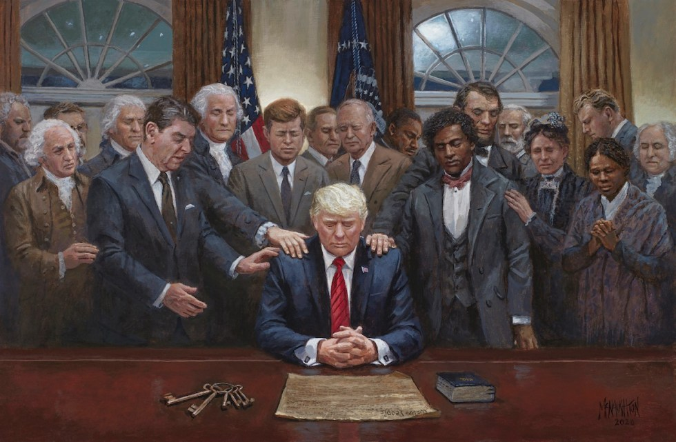 mcnaughton trump prays with leaders