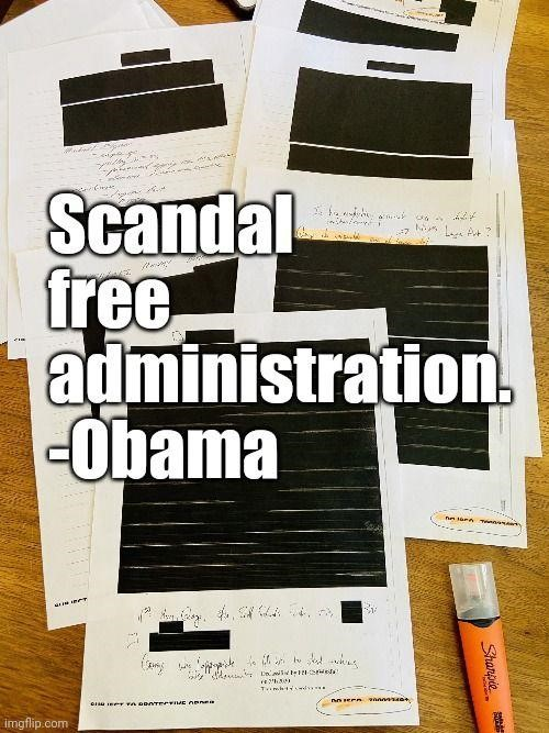 scandal free administration