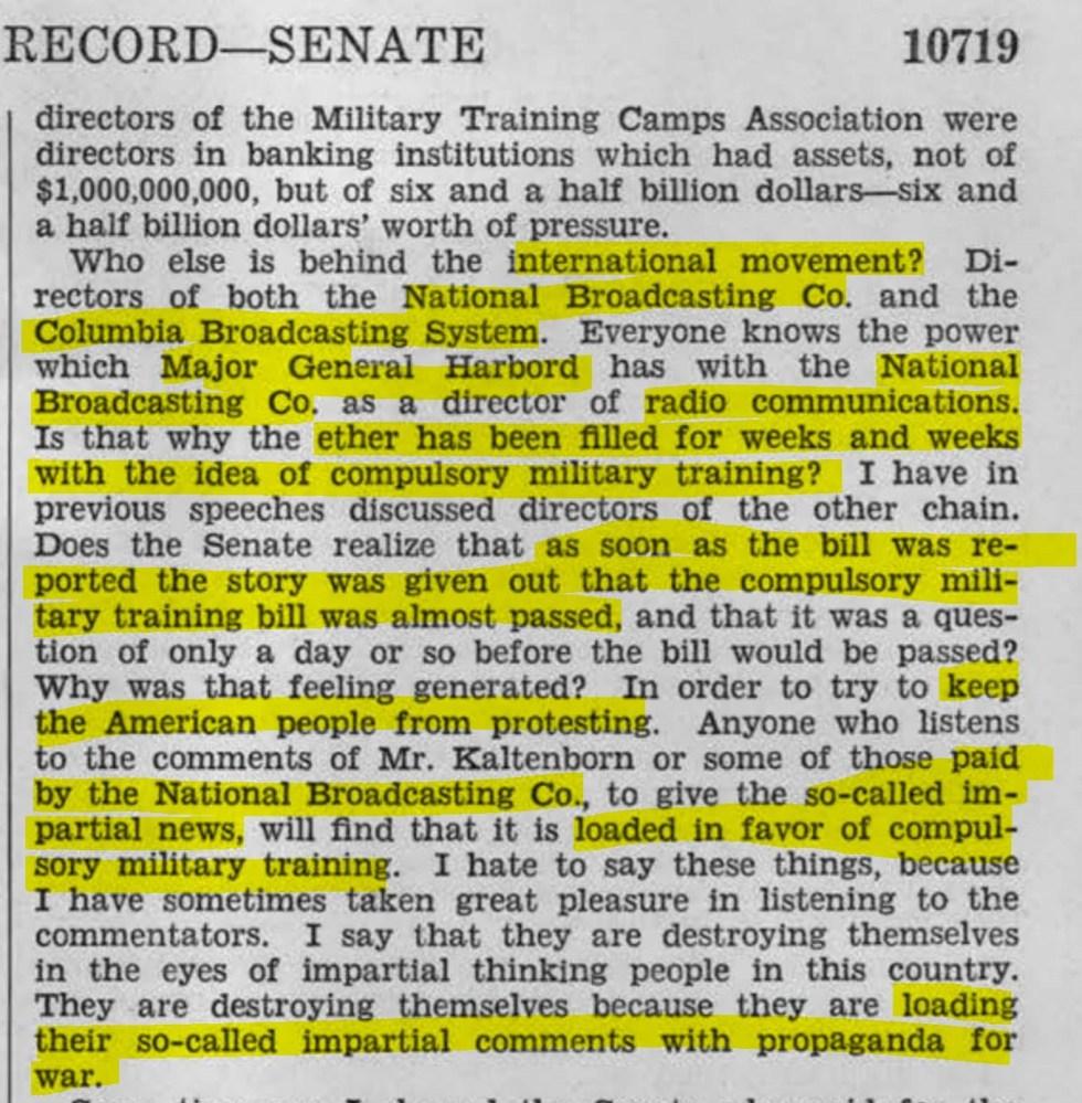 senate record 1