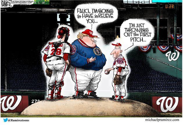trump fauci baseball