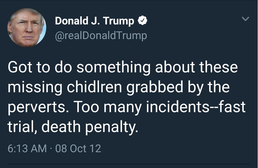 tt death penalty pedophilia